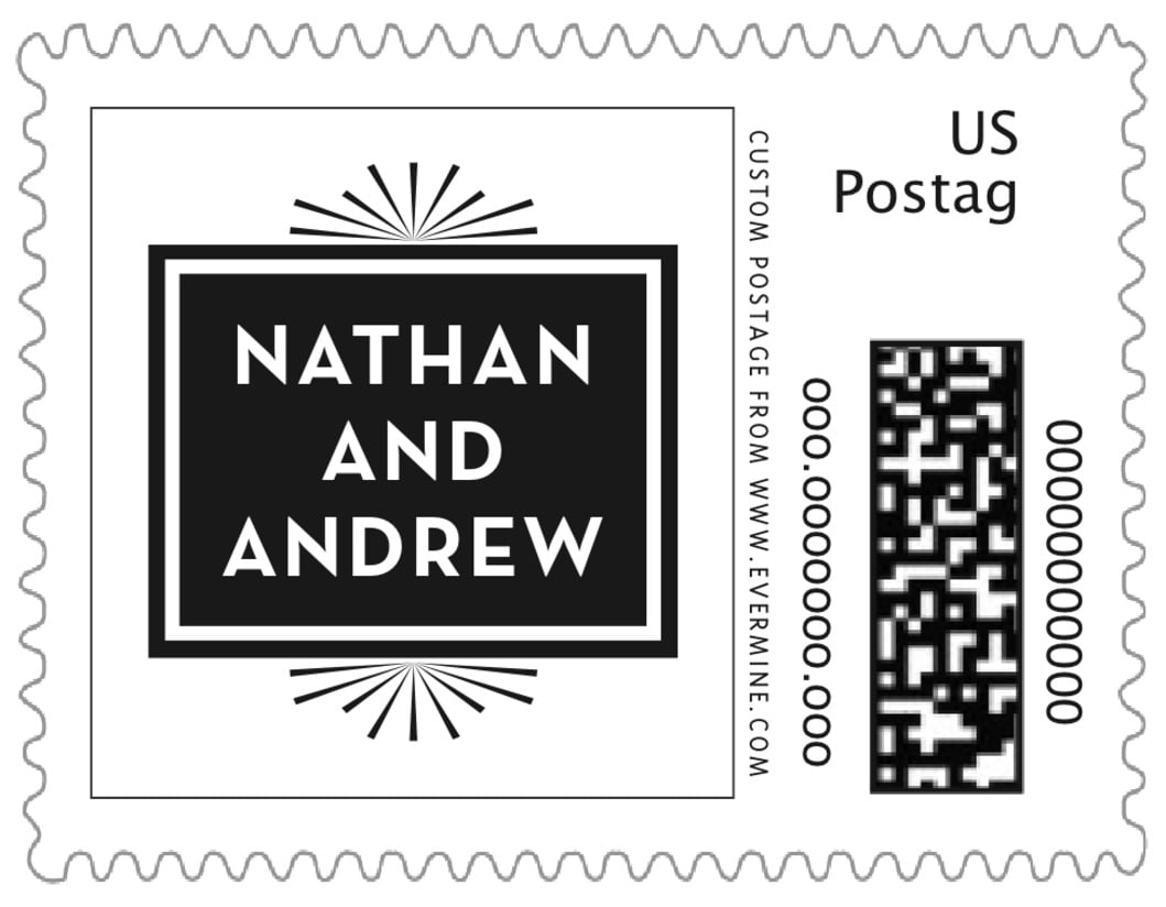 small custom postage stamps - tuxedo - tuxedo formal (set of 20)