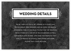 Tuxedo Formal enclosure cards