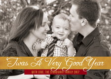 holiday cards - gold & wine - twas a good year (set of 10)