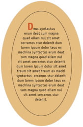 Urban oval text labels