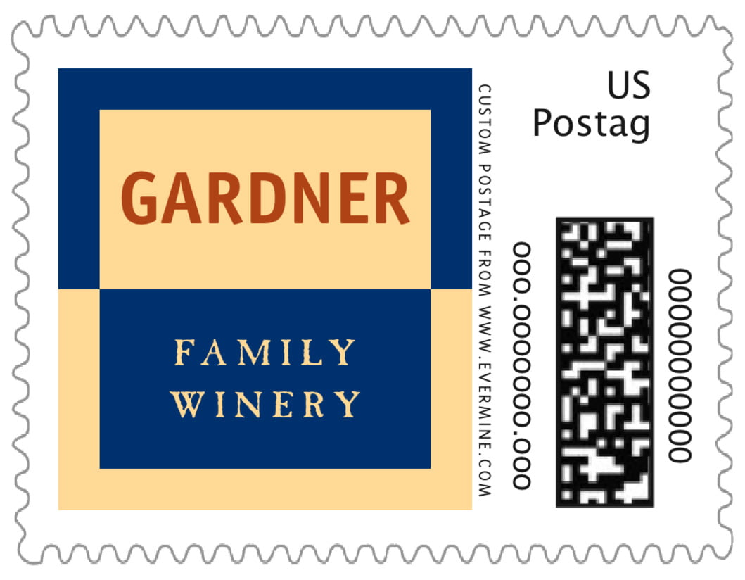 small custom postage stamps - deep blue - urban (set of 20)
