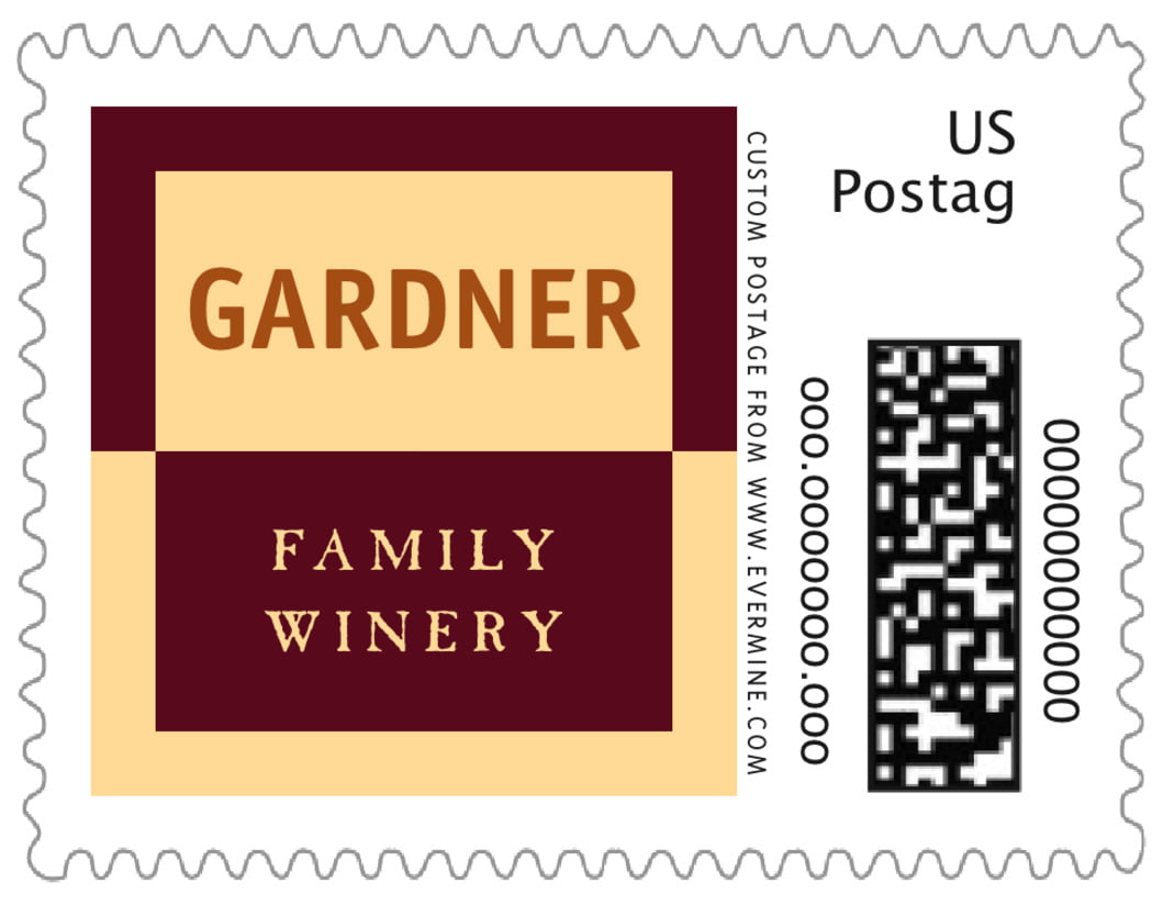 small custom postage stamps - gold, ivory & brown - urban (set of 20)