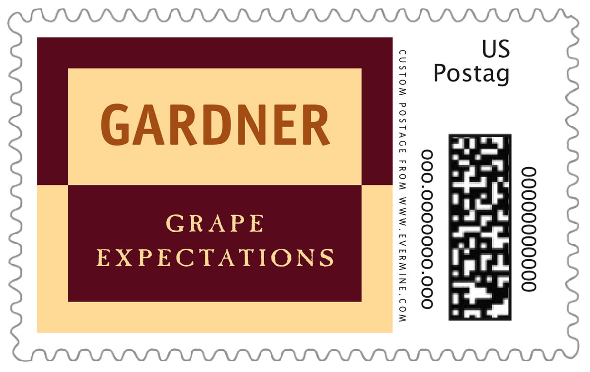 custom large postage stamps - gold, ivory & brown - urban (set of 20)