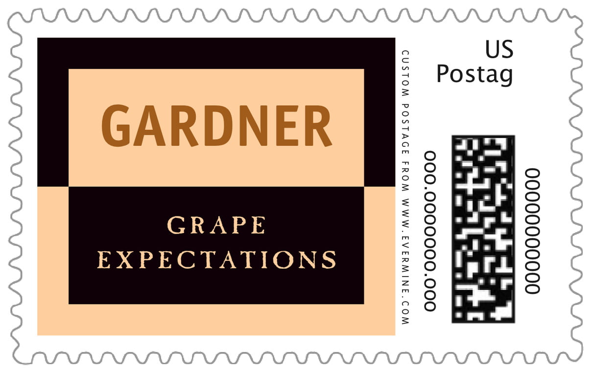 custom large postage stamps - ivory, black & gold - urban (set of 20)