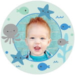 Under the Sea circle photo labels