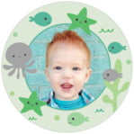 Under The Sea Circle Photo Label In Mint
