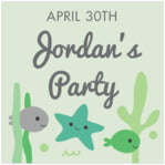 Under the Sea kid/teen birthday labels