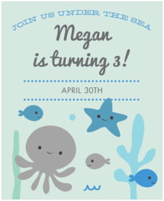 Under the Sea large labels