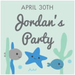Under the Sea square labels