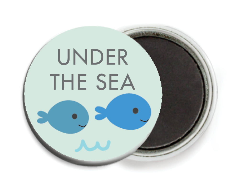 custom button magnets - sea glass - under the sea (set of 6)