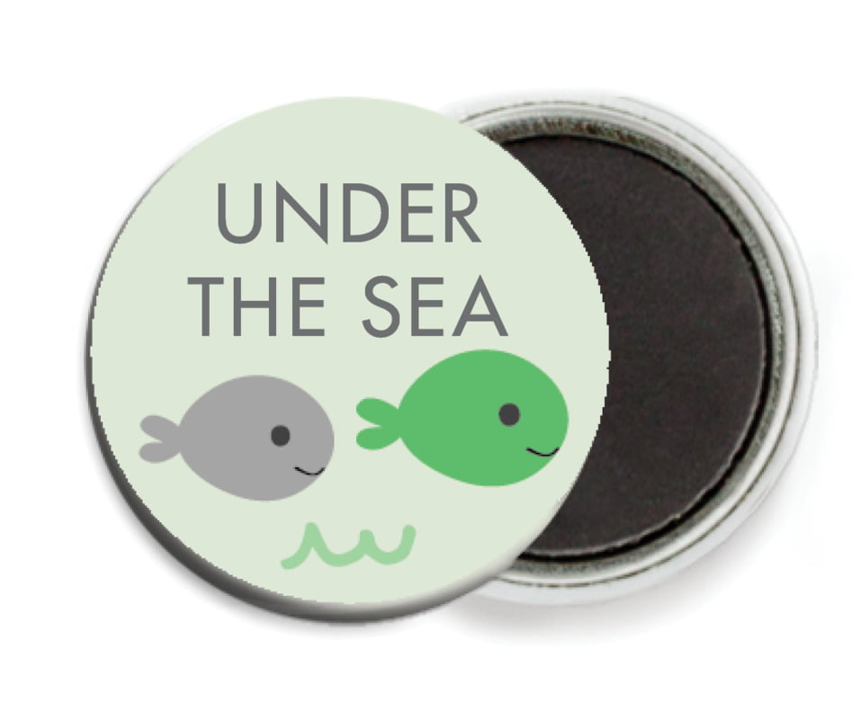custom button magnets - mint - under the sea (set of 6)