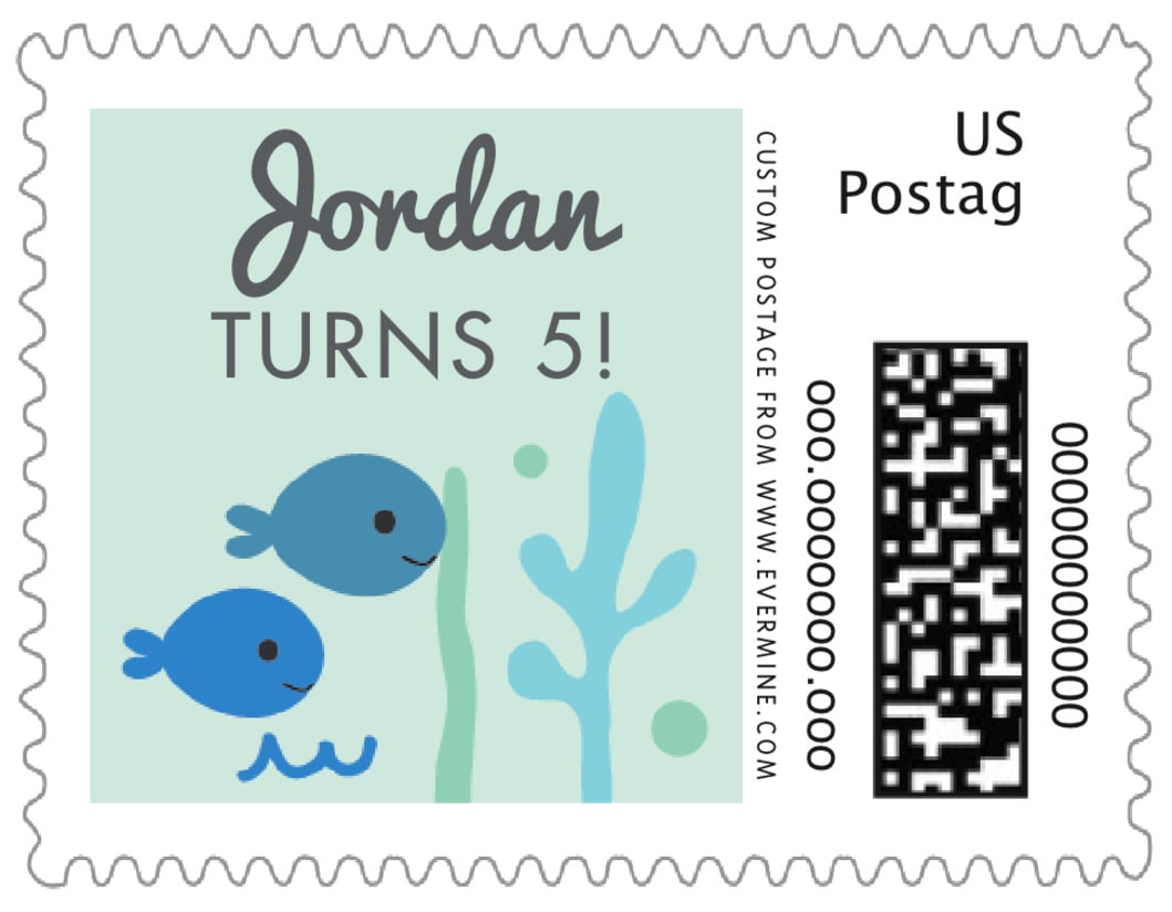 small custom postage stamps - sea glass - under the sea (set of 20)