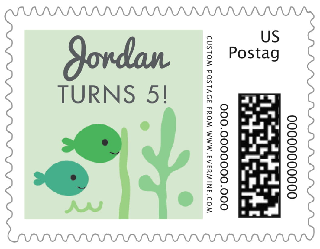 small custom postage stamps - mint - under the sea (set of 20)