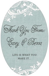 Burlap & Lace large oval hang tags