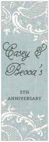 Burlap & Lace tall labels