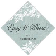 Burlap & Lace diamond labels