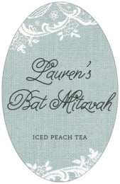 Burlap & Lace tall oval labels