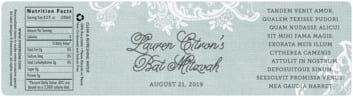 Burlap & Lace bottled water labels