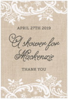 Burlap & Lace tall rectangle labels