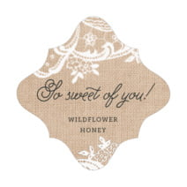 Burlap & Lace fancy diamond labels