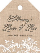 Burlap & Lace small luggage tags