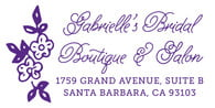 Burlap & Lace Large Address Stamp In Purple