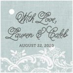 Burlap & Lace square hang tags
