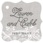 Burlap & Lace fancy square tags