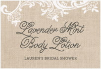 Burlap & Lace wide rectangle labels
