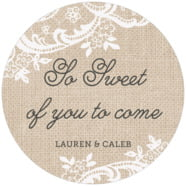 Burlap & Lace large circle labels