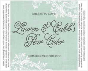 Burlap & Lace large wide labels