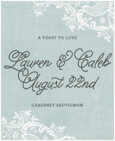 Burlap & Lace large labels