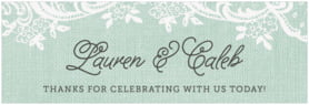 Burlap & Lace wide labels