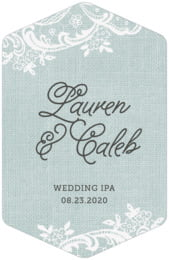 Burlap & Lace tall hexagon labels