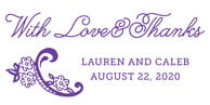Burlap & Lace Large Designer Stamp In Purple