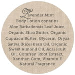 Burlap & Lace circle text labels