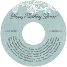 Burlap & Lace Cd Label In Sea Glass