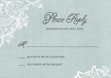 custom response cards - sea glass - burlap & lace (set of 10)