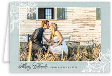 Burlap & Lace photo note cards