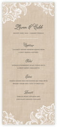 Burlap & Lace Menu In Mocha