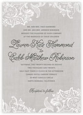 Burlap & Lace invitations
