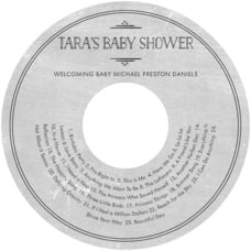Vintage Chalkboard baby shower CD/DVD labels