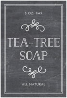 Vintage Chalkboard bath and body labels