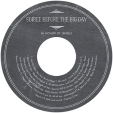 Vintage Chalkboard cd labels