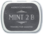 Vintage Chalkboard bridal shower mint tins