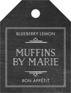 Vintage Chalkboard Small Luggage Tag In Chalkboard Tuxedo