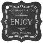 Vintage Chalkboard fancy square tags