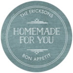 Vintage Chalkboard circle labels