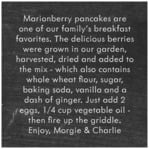 Vintage Chalkboard square text labels
