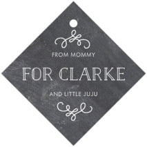Vintage Chalkboard Diamond Hang Tag In Chalkboard Tuxedo